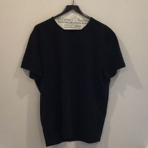 John Varvatos 2XL black cotton shirt